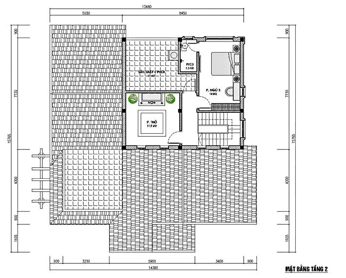 Mẫu thiết kế nhà vườn có gác lửng 150m2 tại Hà Giang
