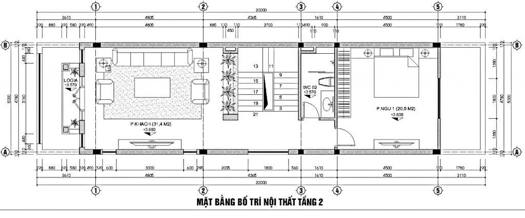 Mẫu thiết kế nhà phố sang trọng mặt tiền 5m2 tại Ninh Bình