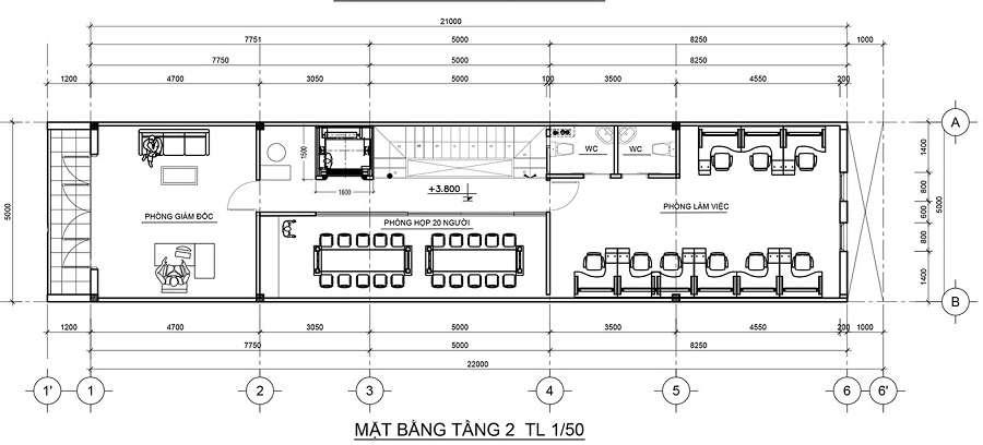 MẪU KIẾN TRÚC - NỘI THẤT NHÀ PHỐ KẾT HỢP KINH DOANH 5X22M